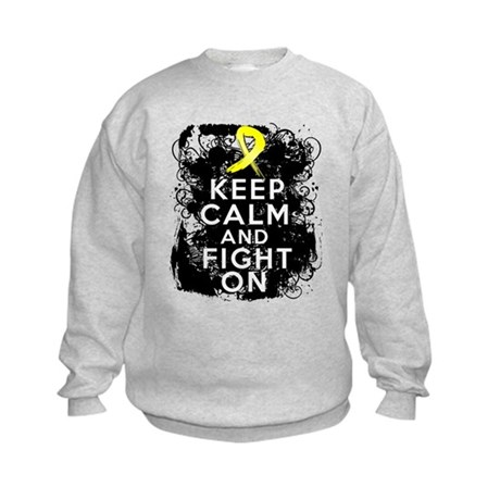 Sarcoma Keep Calm and Fight On Kids Sweatshirt