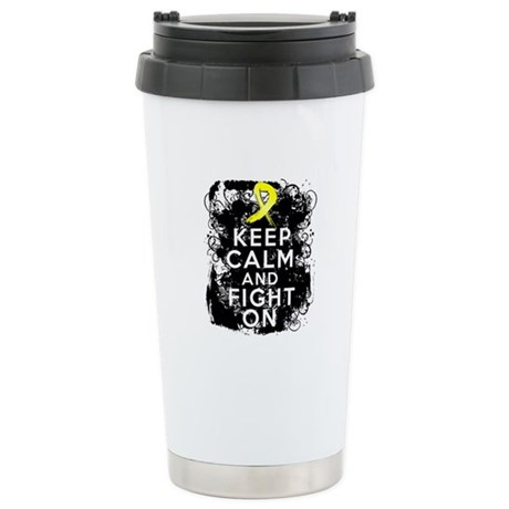 Sarcoma Keep Calm and Fight On Ceramic Travel Mug