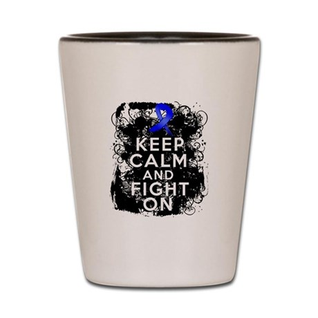 Rectal Cancer Keep Calm and Fight On Shot Glass
