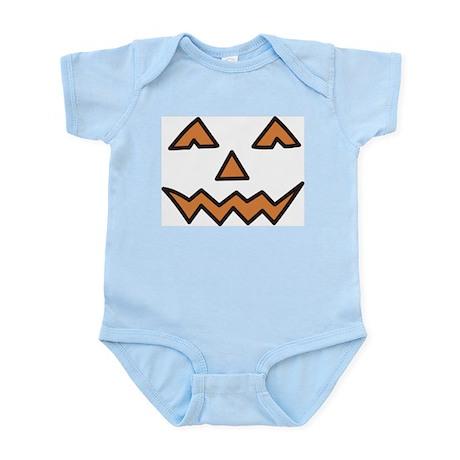 Pumpkin Face Infant Bodysuit
