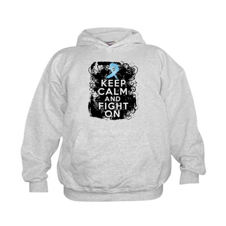 Prostate Cancer Keep Calm and Fight On Kids Hoodie