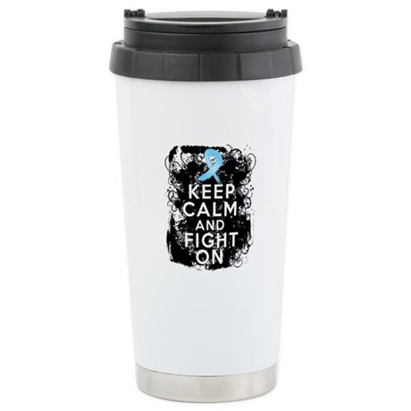 Prostate Cancer Keep Calm and Fight On Ceramic Tra