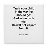 Proverbs 22:6 Tile Coaster