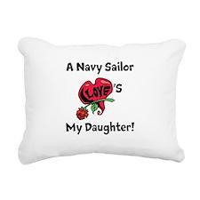 A navy Sailor Loves my Daughter Rectangular Canvas