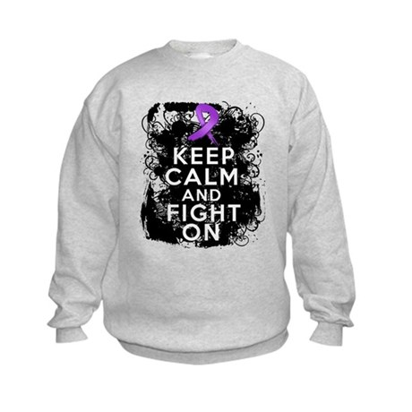 Pancreatic Cancer Keep Calm and Fight On Kids Swea