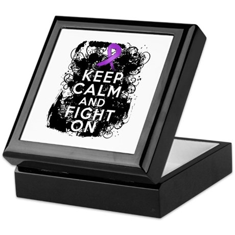 Pancreatic Cancer Keep Calm and Fight On Keepsake