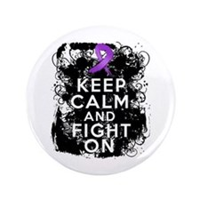 "Pancreatic Cancer Keep Calm and Fight On 3.5"" Butt"
