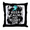 Ovarian Cancer Keep Calm and Fight On Throw Pillow