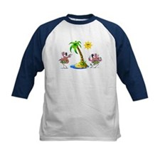 Flamingo's at the beach Tee
