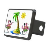 Flamingo's at the beach Rectangular Hitch Cover