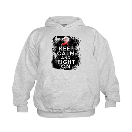 Oral Cancer Keep Calm and Fight On Kids Hoodie