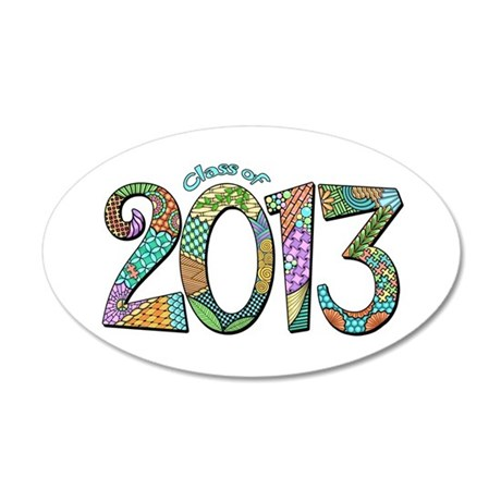 Class of 2013 20x12 Oval Wall Decal