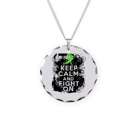 Non-Hodgkins Lymphoma Keep Calm and Fight On Neckl