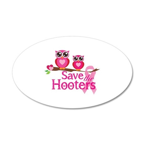 Save the hooters 38.5 x 24.5 Oval Wall Peel