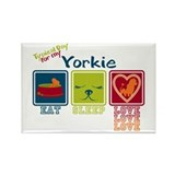 Yorkshire Terrier Rectangle Magnet (10 pack)