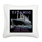Titanic Neon (black) Square Canvas Pillow