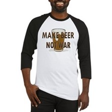 Make Beer Not War Baseball Jersey
