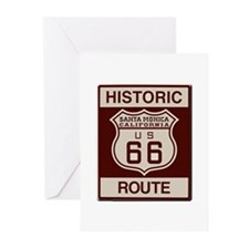 Santa Monica Route 66 Greeting Cards (Pk of 20)