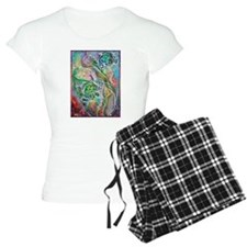 Sea turtles! Wildlife, nature art! Pajamas