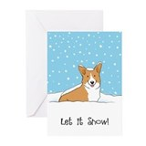 Happy Snow Corgi Greeting Cards (Pk of 20)