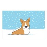 Happy Snow Corgi Postcards (Package of 8)