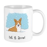 Happy Snow Corgi Mug