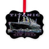 Titanic Neon (black) Picture Ornament