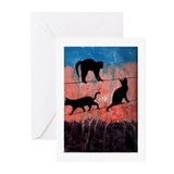 Cats on a Wire Greeting Cards (Pk of 10)