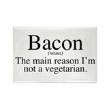Bacon Black Rectangle Magnet (100 pack)