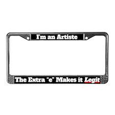 Im an Artiste License Plate Frame