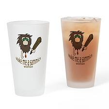 Caveman sammich Drinking Glass