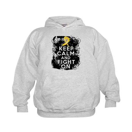 Neuroblastoma Keep Calm and Fight On Kids Hoodie