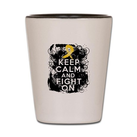 Neuroblastoma Keep Calm and Fight On Shot Glass