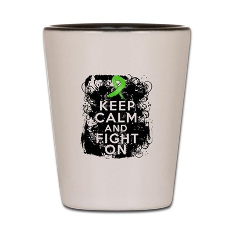 Muscular Dystrophy Keep Calm and Fight On Shot Gla