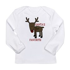 Santas Favorite Long Sleeve Infant T-Shirt