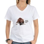 Cool Story Boxer Women's V-Neck T-Shirt