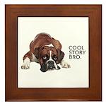 Cool Story Boxer Framed Tile