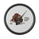 Cool Story Boxer Large Wall Clock