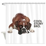 Cool Story Boxer Shower Curtain