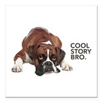 Cool Story Boxer Square Car Magnet 3