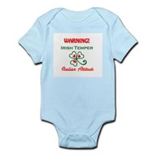 Irish temper Italian attitude Infant Bodysuit