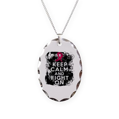 Multiple Myeloma Keep Calm and Fight On Necklace O