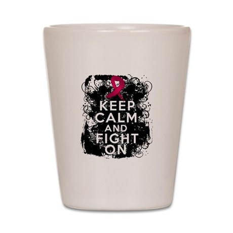 Multiple Myeloma Keep Calm and Fight On Shot Glass