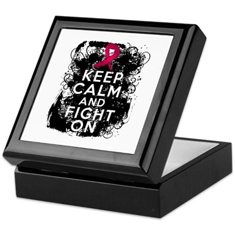 Multiple Myeloma Keep Calm and Fight On Keepsake B