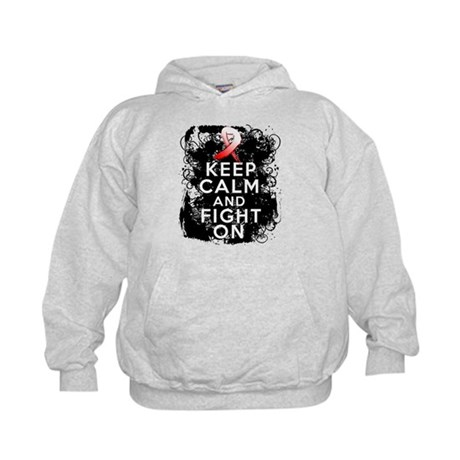 MDS Keep Calm and Fight On Shirts Kids Hoodie