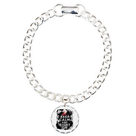 MDS Keep Calm and Fight On Shirts Charm Bracelet,