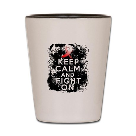 MDS Keep Calm and Fight On Shirts Shot Glass