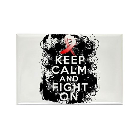 MDS Keep Calm and Fight On Shirts Rectangle Magnet