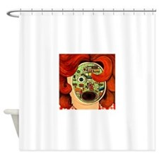Female Robot Shower Curtain