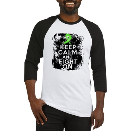 Lymphoma Keep Calm and Fight On Baseball Jersey